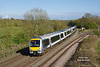 168502 passses Hatton North Jnc at 17:36 on Monday 2nd May 2016 forming the 1R45 16:10 Marylebone - Birmingham Moor Street.