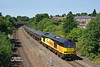 Running bang to time, 60076 passes through Horbury Cutting with the 6E32 08:55 Colas Ribble Rail - Lindsey OR just after noon on Monday 17th July 2017. <br /> The morning was cracking as far as the weather was concerned - however, a consultation of RTT showed virtually nothing running into Hull, on the Southbank of the Humber or into Drax, and with an afternoon shift looming my options were limited so decided to risk this working which is not normally considered whilst on the late shift due to the travelling time back for work, but with nothing else going on I'm glad I chanced it.