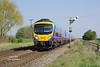 185148 approaches Crabley Creek forming the 1K19 14:39 Hull - Manchester Pic on Saturday 8th April 2017.