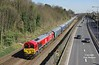 66136 passes Hessle at 12:20 on Saturday 25th March 2017 with the 09:50 Hull Biomass - Drax PS.