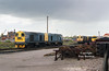 A visit to Frodingham depot (Scunthorpe) on the afternoon of April 28th 1992 revealed an influx of Class 20's from the Northwest MGR pool following the cessation of their use on the Bickershaw colliery traffic.<br /> 20's 169, 121, 094, 092, 104 and 096 are included  in this shot looking West from the depot offices.<br /> 1992 was to be the last year of the classes regular use on revenue earning freight, and the following summer was spent trying to photograph them as much as possible, as I'm sure we all thought the end was nigh for the class - little would One have imagined it would still be possible to see them in mainline action almost 25 yeras later!
