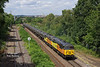 """Looking nowhere near as nice as it did in it's former 'Doncaster Enterprise' guise, 56078 leads 56113 past Oakenshaw Jnc at 12:22 on Tues 22nd July 2018 with the 08:55 Colas Ribble Rail - Lindsey Oil Refinery empty tanks - not that I'm complaining!<br /> <a href=""""https://tonybuckton.smugmug.com/Trains/Class-56s-1/i-4whSThd"""">https://tonybuckton.smugmug.com/Trains/Class-56s-1/i-4whSThd</a>"""