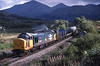 37409 heads an Oban bound freight towards	Tyndrum Lower.<br /> 26/09/1988