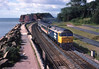 47603 'County of Somerset' approaches Dawlish Warren on a northbound express from Plymouth.	<br /> 01/07/1988