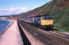 47537 'County of Gwynedd' on a northbound express at Dawlish.<br /> 01/07/1988