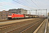 DB 189 088 approaches Amersfoort with a long freight on Friday,23rd Nov 2018.