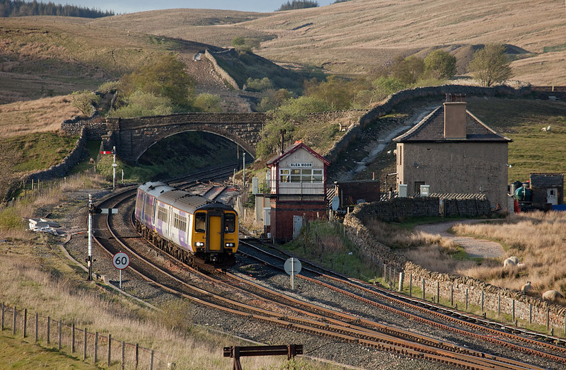 """<b>3-May-2009</b>  Just returned from a very enjoyable trip to the <a href=""""http://en.wikipedia.org/wiki/Settle-Carlisle_Railway"""">Settle & Carlisle</a> in North Yorkshire, with a few days around Barnetby, North Lincolnshire, tacked on for good measure. Photos from the trip are now stored in two folders on the <a href=""""/Trains/787126"""">UK galleries page</a>. Here's a teaser.  <i>156 425 bound for Leeds heads through Blea Moor.</i>"""