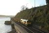 66847 6Z51 1442 Teigngrace (Heathfield) - Chirk 0026 pass Shaldon Bridge, on the first loaded run of the train