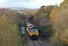 66847 6Z51 1442 Teigngrace (Heathfield) - Chirk 0026 pass Kingsteignton Road bridge, on the first loaded run of the train