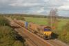 66199+66006 3S13 Westbury - St Blazey RHTT heads passed Exminster 01-11-11