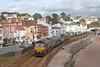 66199 and 66006 pass along Marine Parade, Dawlish with 3S13 Westbury - St Blazey RHTT on 12-10-11