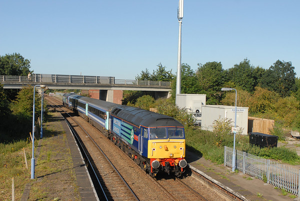 East Anglia unit shortages mean in addition to the current three return trips to Great Yarmouth additional services to Lowestoft were worked, here 47810 T and T 47841 on 2P12 08:36 Norwich to Great Yarmouth (via Acle) arrived Acle 0857
