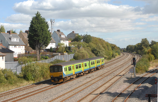 FGWs replacement units for the 142s have started to arrive. Here 150108 is to be found passing East Usk on 1207 Taunton ~ Cardiff Central