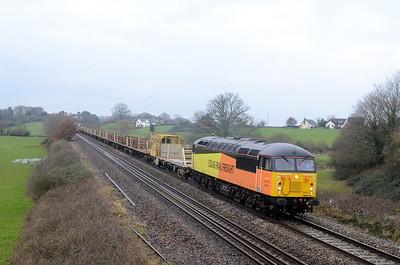 56078 6C51 0835 Totnes - Westbury Up Yard 1045 MT CWR passes Rewe