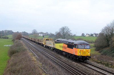 56078 6C51 0835 Totnes - Westbury Up Yard 1045 MT CWR passes Rewe