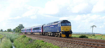 57605 passes Powderham with 2C51 1750 Exeter St Davids ~ Penzance