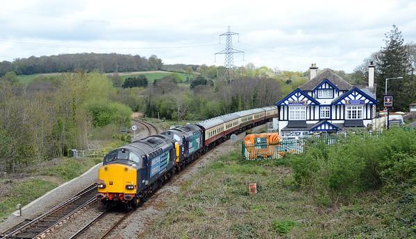 37605 37059 1Z74 0558 Crewe - Meldon Quarry, down Cowley Bridge 1249