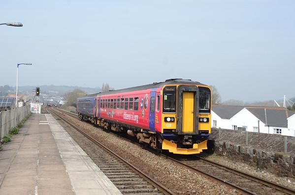 153325 +153382 2T15 1223 Exmouth~Paignton Exeter St Thomas
