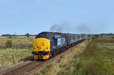 37405 37419 2C59 12:55 Great Yarmouth-Norwich passes Breydon Water 1258