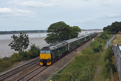 57605 5Z70 1120 Penzance to Royal Oak Sidings passes Powderham