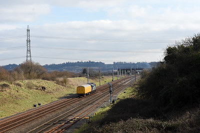37069 + 96608 5Z37 1149 Canton Sidings to Derby R.T.C.(Network Rail)‎ Pilning 123‎8