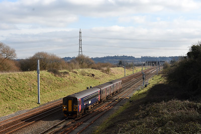 153361 + 150124 2U14 11:04 Taunton to Cardiff Central Pilning 1242