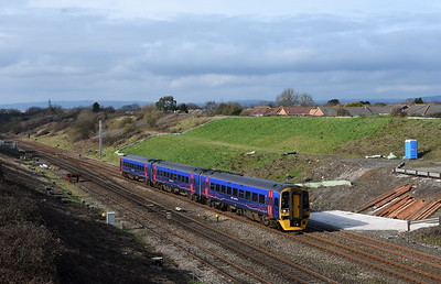 158955  1F17 12:30 Cardiff Central to Portsmouth Harbour Pilning