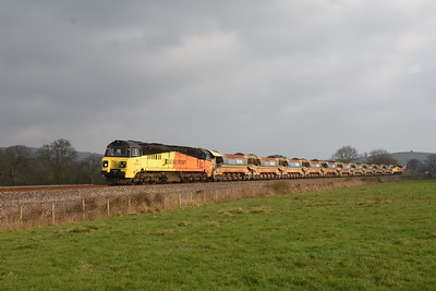 70805 T and T 70809 6C23 09:51 Westbury to Penwithers Jn, Silverton 1105