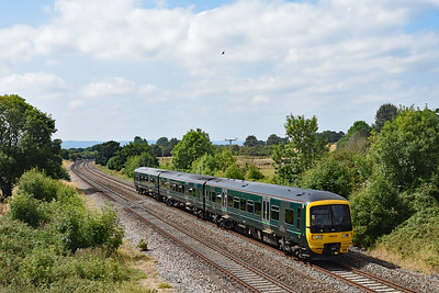 166210 approaches Cogload Junction  2U16 1204 Taunton - Cardiff Central