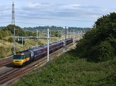 43002 leading 43138  Pilning 1648  1B48 1515 London Paddington to Cardiff Central