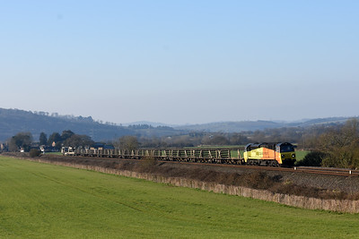 70816 6C97 08:45 DAWLISH WARREN to HINKSEY SIDINGS arrive 12:11 COLAS RAIL  TRAIN Su STP LWRT  Up Stoke Canon 0902 