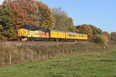 37219 pushing 9703 3Z08  1255 Exeter Riverside N.Y. to Derby R.T.C.(Network Rail) Silverton 1313