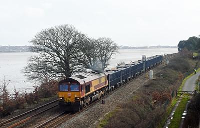 66164 6C12 10:58 Burngullow to Exeter Riverside Powderham 1333