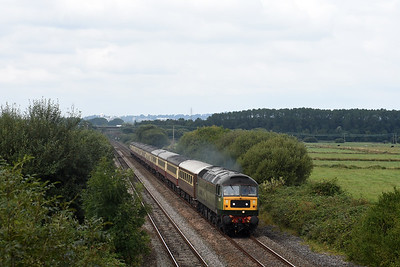 47805 and stock  5Z50 0825 Crewe H.S. to Kingswear (For Dartmouth)  Exminster 1348