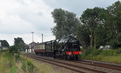 46100 Royal Scot + Support Coach  5Z46 0931 Southall Loco Services Ltd to Kingswear (For Dartmouth)  Stoke Canon 1600