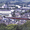 FIRE TWO!<br /> Shot from the battlements of Kendal Castle, a closer up view of 33029 as it brings up the rear of the 14:40 Oxenholme-Windmere with 57316 leading as they approach Kendal station, 24/6/2018.
