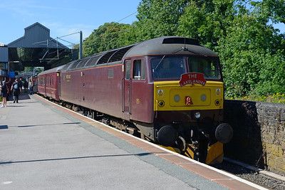 47245 stands in the branch platform at Oxenholme prior to hauling the 10.40 to Windermere 1/7/18.