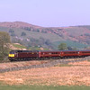 47826 with 47851 on the rear are seen on the climb near Ings with the 15:37 Oxenholme-Windermere, 21/4/2019.