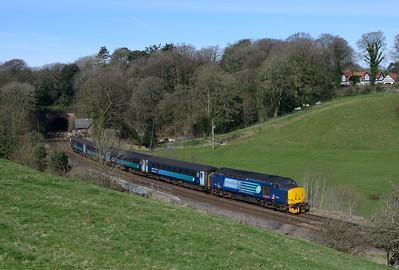 37419 passes Furness Abbey on the 10.04 Preston-Barrow 24/3/17.