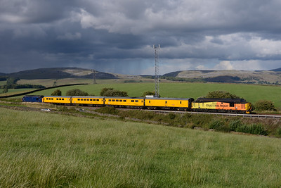 Another view of 37612 & 37421 on the measurement train near Kettlesbeck 10/8/18.