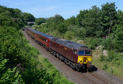 57316 approaches Staveley with the 11.20 Windermere-Oxenholme on 1/7/18.