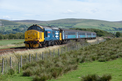 37401 approaches Foxfield with the 14.52 Barrow-Carlisle semi-fast on 9/8/18.
