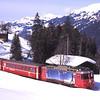 617 approaches Cavadürli with 826 12:32 Davos Platz to Klosters Dorf schittelzug, 7/3/2012.