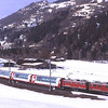 603 leads 610 as they round the curve from Ilanz with 910 14:26 Disentis/Mustér to Chur, the Glacier Express, 6/3/2012.