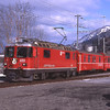 623 arrives into Castrisch with RE1240 12:40 Scuol-Tarasp to Disentis/Mustér, 6/3/2012.