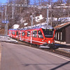 3510 arrives into platform 3 at Filisur with 1813 the 09:31 from Davos Platz, 7/3/2012.