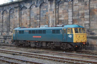 Getting up at (by my standards) stupid o'clock in order to catch the 0649 train from Carlisle to Preston gave me a chance to photograph the two electric locos stabled at Carlisle for some time before their imminent departure. This is 86101