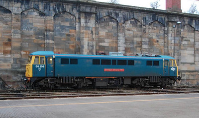 Another view of 86101 in Carlisle on 10th April 2013.
