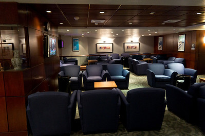 """The """"ClubAcela"""" lounge at New York's Penn Station.  It's not exactly the Maple Leaf Lounge, but it's better than standing around in the subterranean station."""