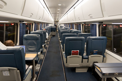 The first class car on the Acela Express.